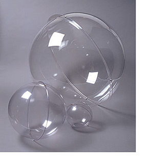 Clear Plastic Spheres