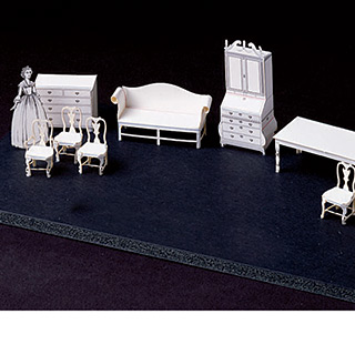 Pop out furniture colonial american 1 4 scale from rose - 1 4 scale furniture for interior design ...