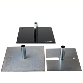 Low Profile Bases for Pipe and Base 1.0 and 2.0 Systems