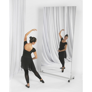 glassless mirror single panel rolling stand from rose brand