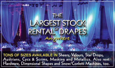 Largest Stock of Rental Drapes